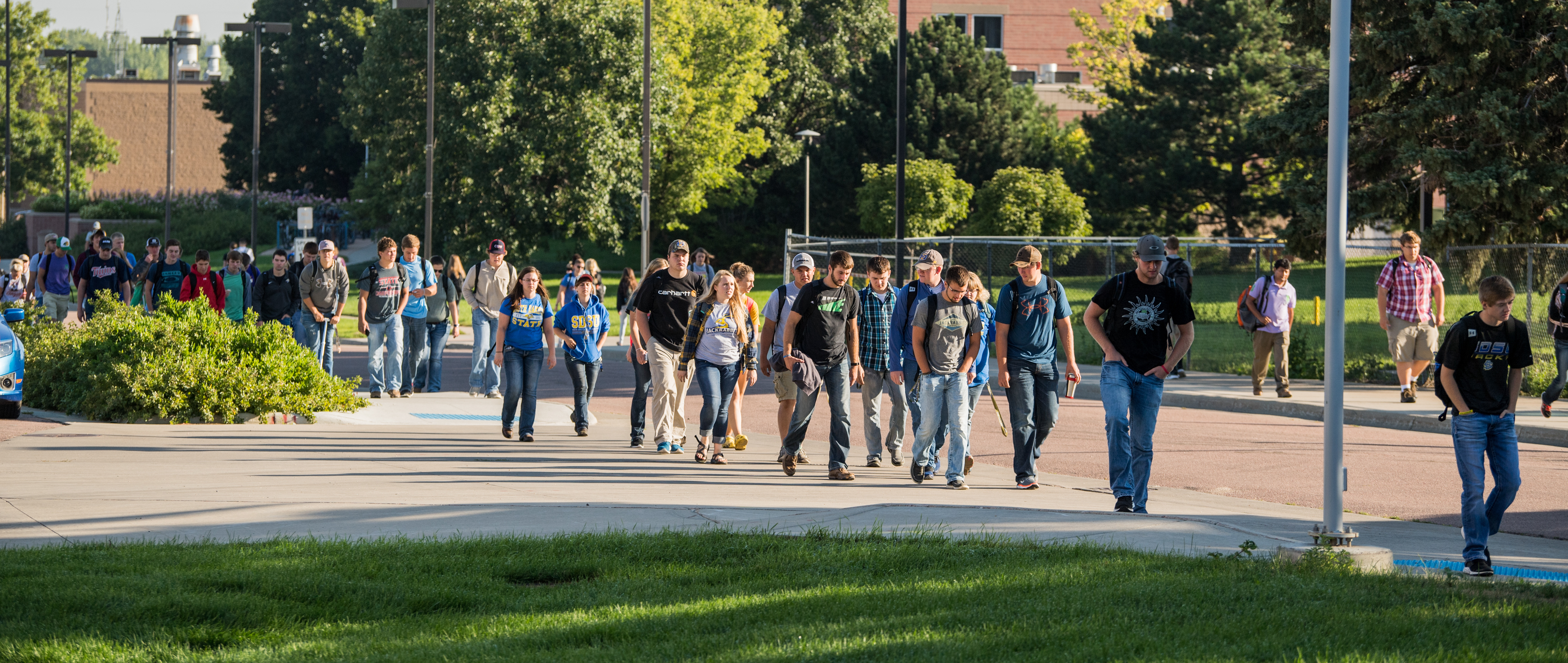 Featured Image for Between Classes | SDState Podcast (Ep. 26 - Pedestrian Friendly Campus)